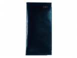 Luxury Leather Lines zakagenda 2019 met blauwe omslag / blauw papier